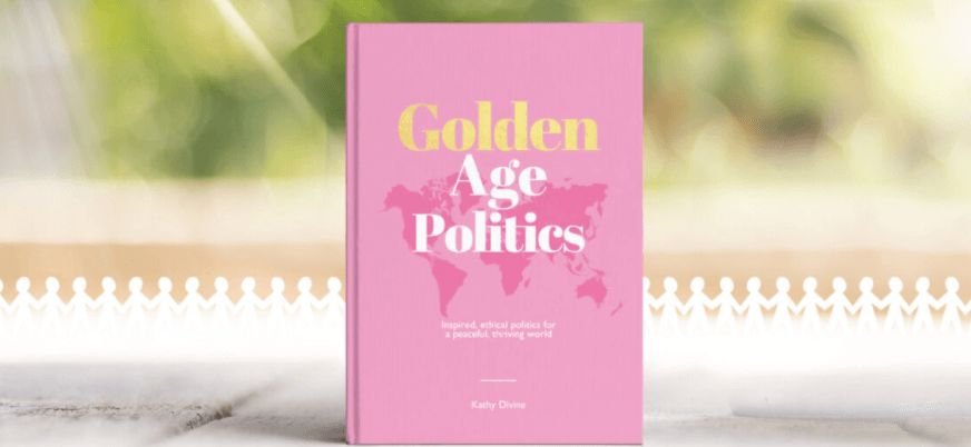 Golden Age Politics by Kathy Divine, featuring author Zoe Simmons