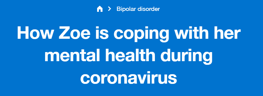 Zoe Simmons wrote a piece on coping with her mental health during coronavirus for Reach Out.